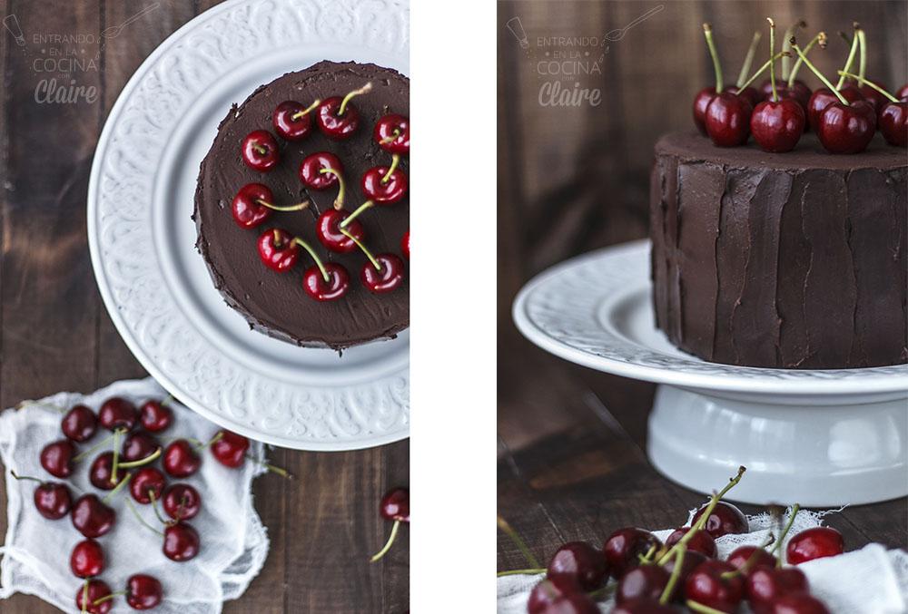 Tarta de chocolate y fresa 002