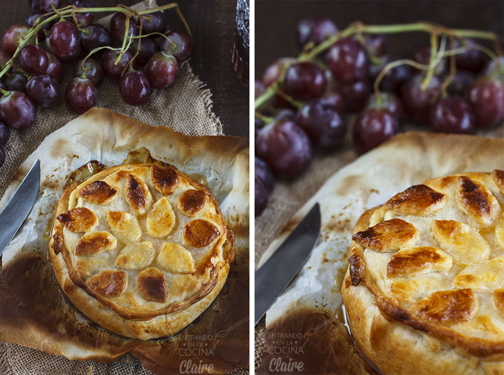 Hojaldre de camembert con uvas 06