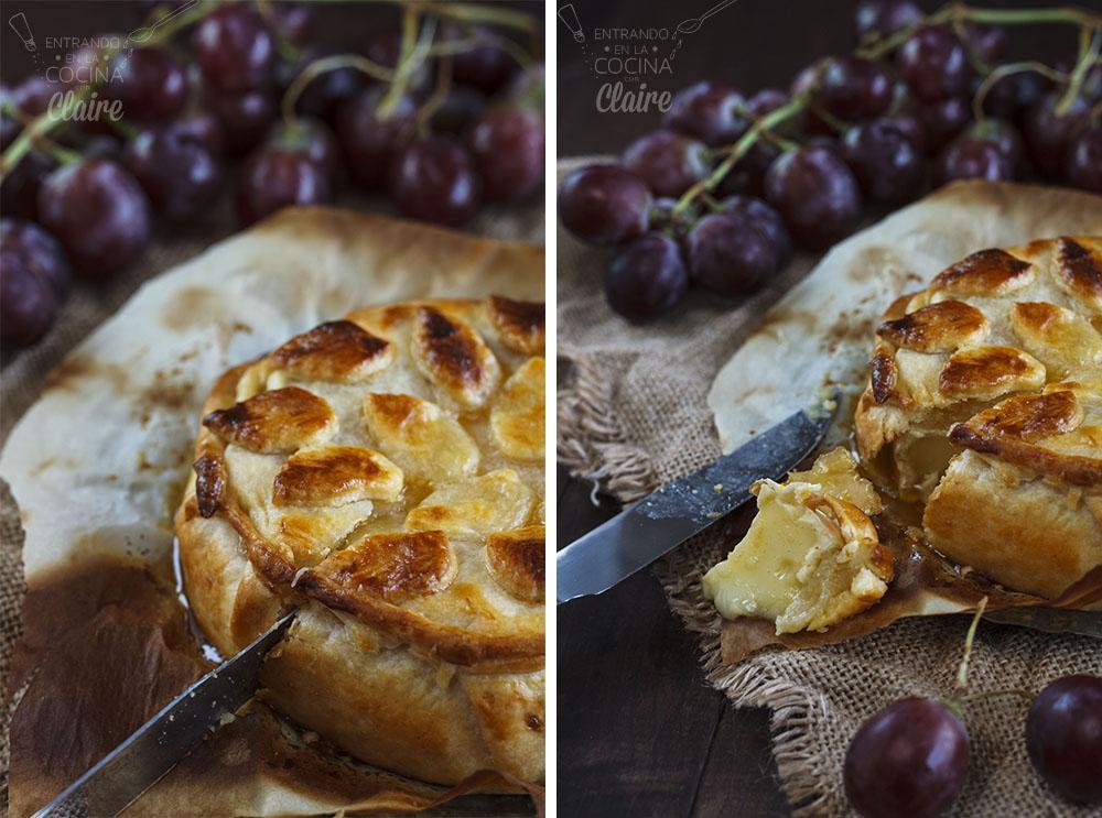 Hojaldre de camembert con uvas 17