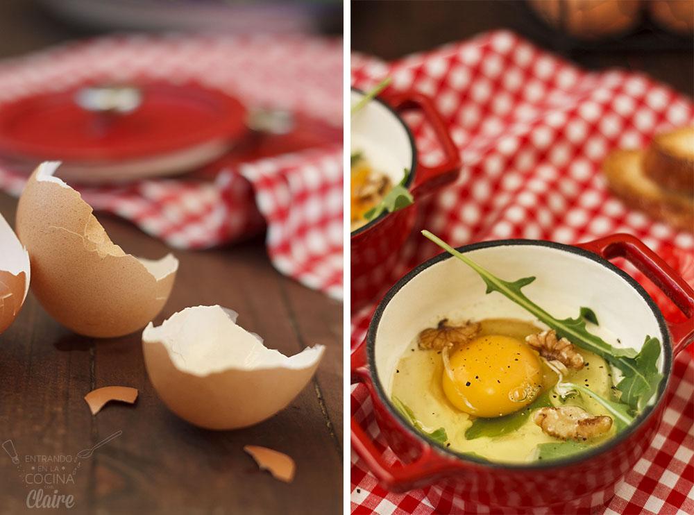 Minicocotte de huevos con rocafort 05