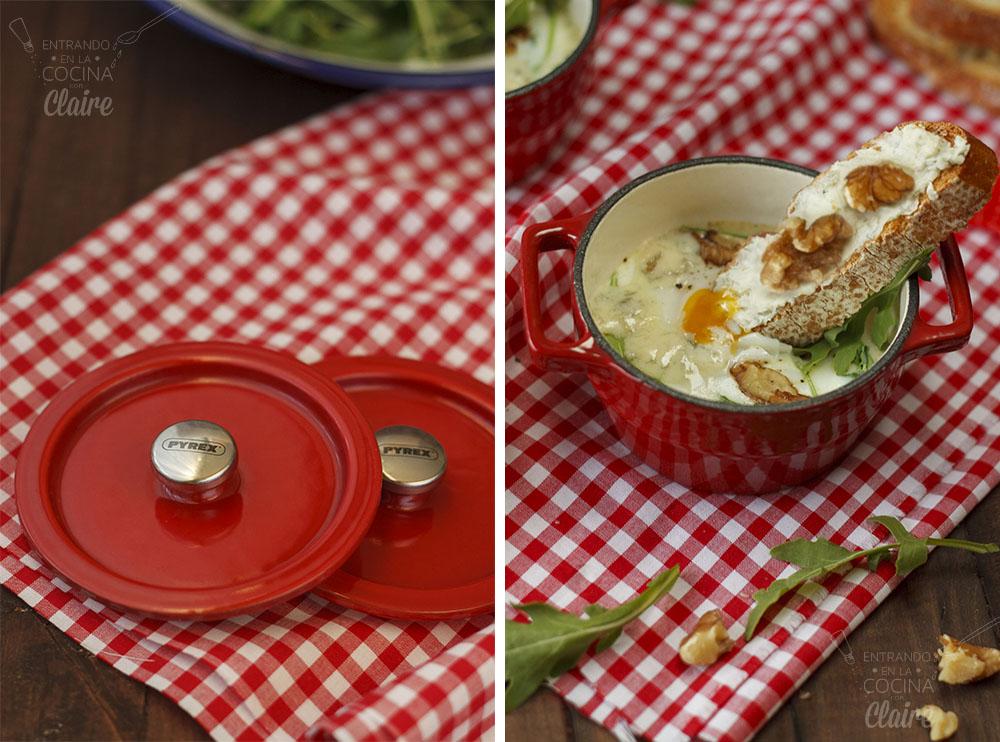 Minicocotte de huevos con rocafort 08