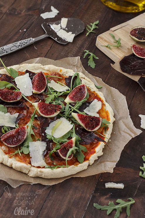 Pizza de cecina con higos 40