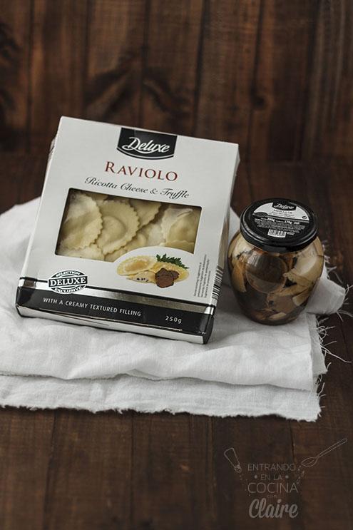 Raviolis con salsa de trufas Lidl 001