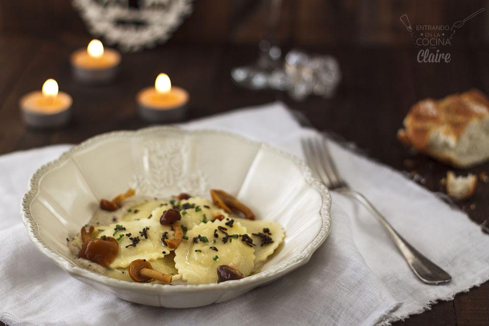 Raviolis con salsa de trufas Lidl 004