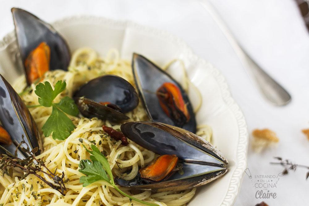 Espaghettis con mejillones 013