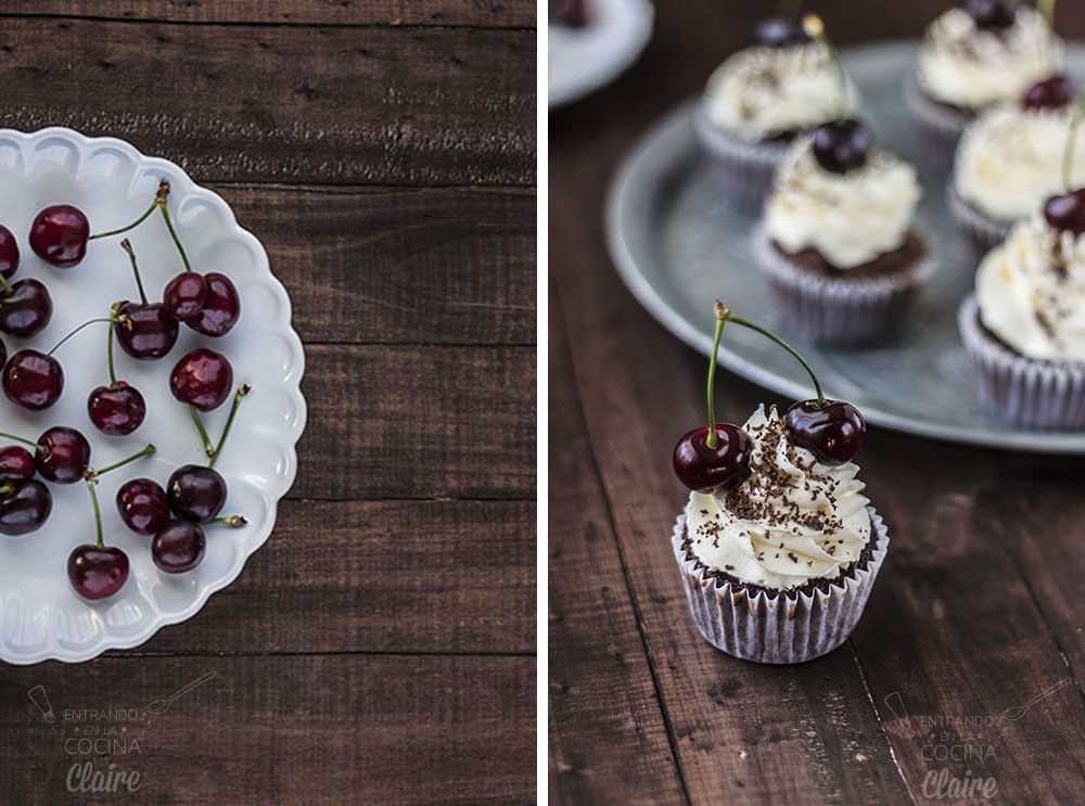 Cupcakes de chocolate y cerezas 10